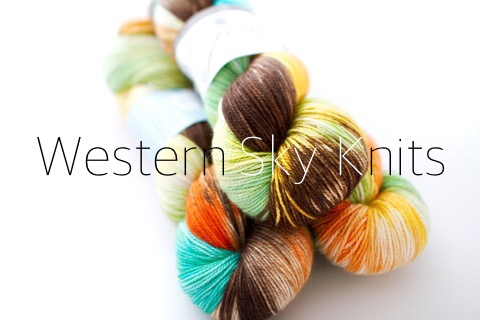 Western Sky Knits, hand-dyed in the USA