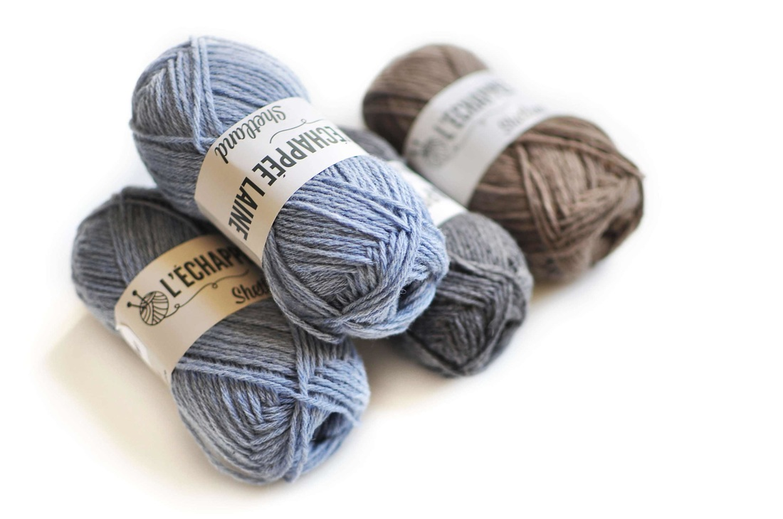 Shetland Wool by L'échappée Laine, France (on the knittingtherapy blog)