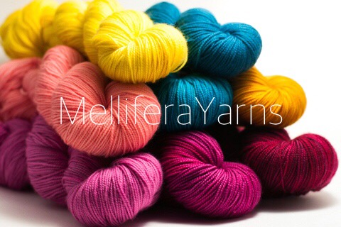 MelliferaYarns, hand-dyed in the USA