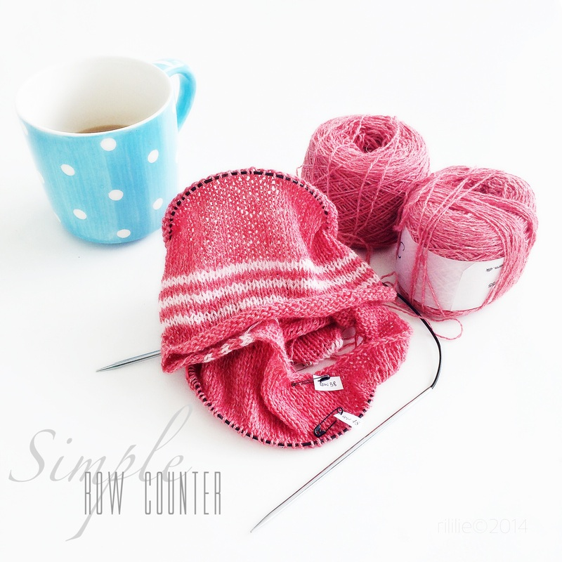 Simple row counter: safety pins! Knittingtherapy-blog by La Maison Rililie