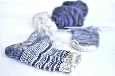 Socks on knittingtherapy blog, by La Maison Rililie