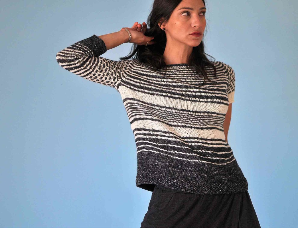 DrawingStraws Pullover by La Maison Rililie Designs
