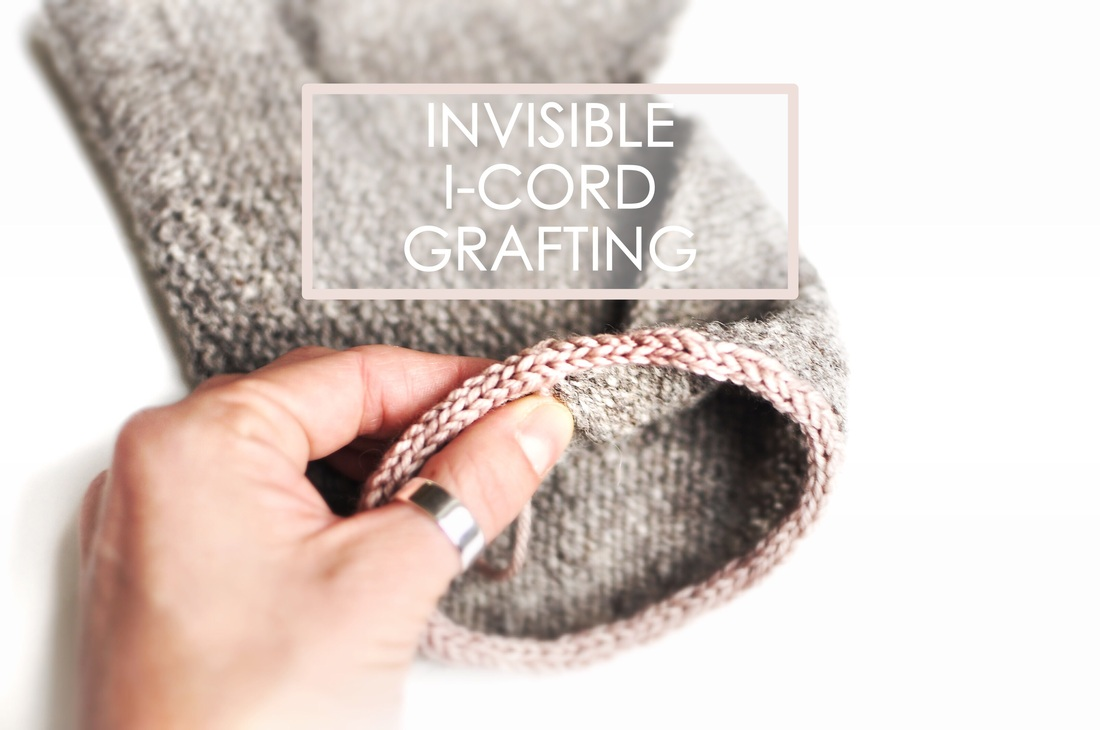 Tutorial: i-cord Grafting; How to invisibly connect the ends of an i-cord together, by La Maison Rililie