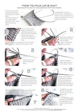How to pick up & knit, by La Maison Rililie