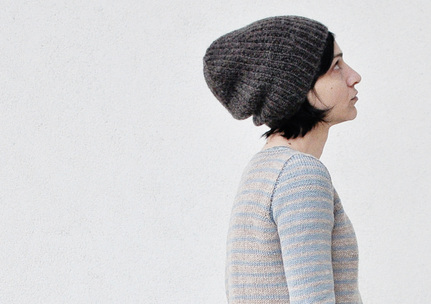 Free Knit / Knitting Pattern Cocoon Hat by La Maison Rililie