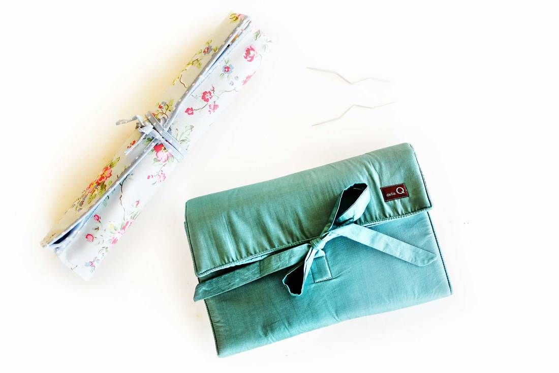 DellaQ Knitting Needle case review @knittingtherapy blog by La Maison Rililie