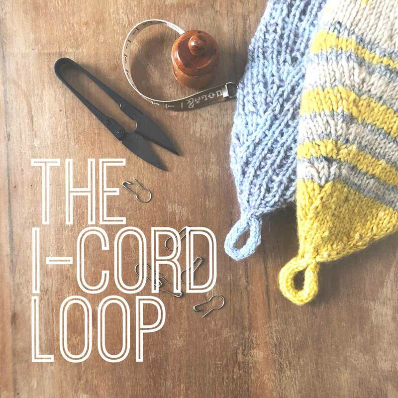 The i-cord Loop: How-to finish off your hat with a loop by La Maison Rililie on knittingtherapy
