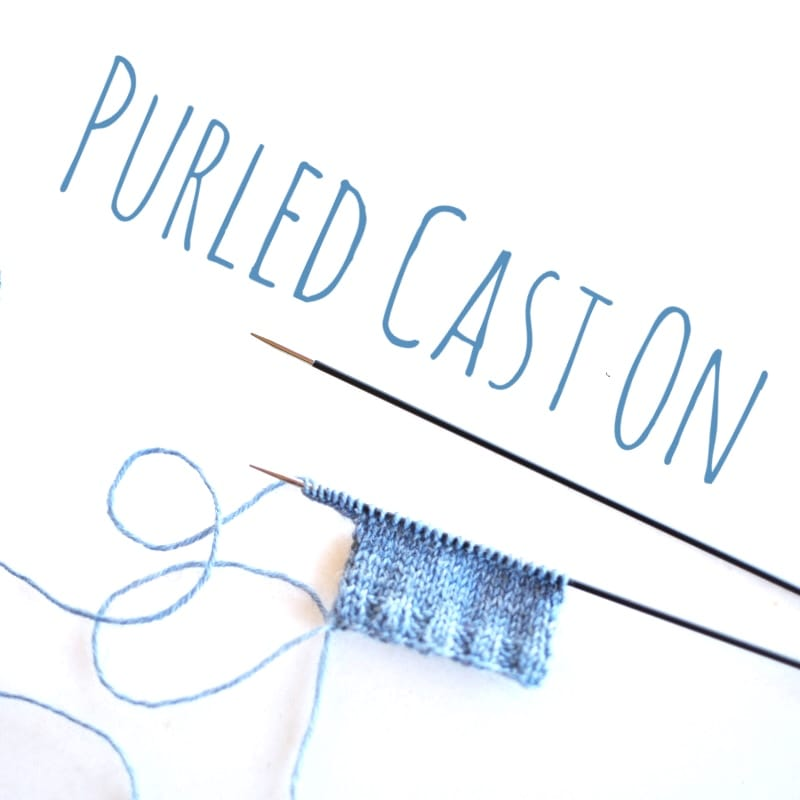 the twisted purled CO - a tutorial by Rililie